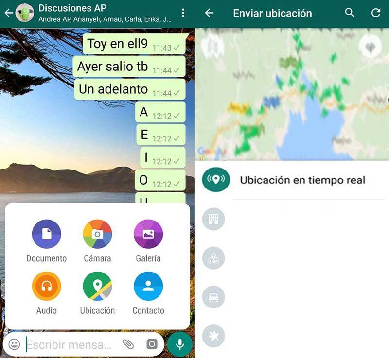 Enviar ubicacion tiempo real whatsapp