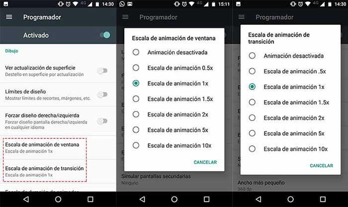 Escala de animación Android