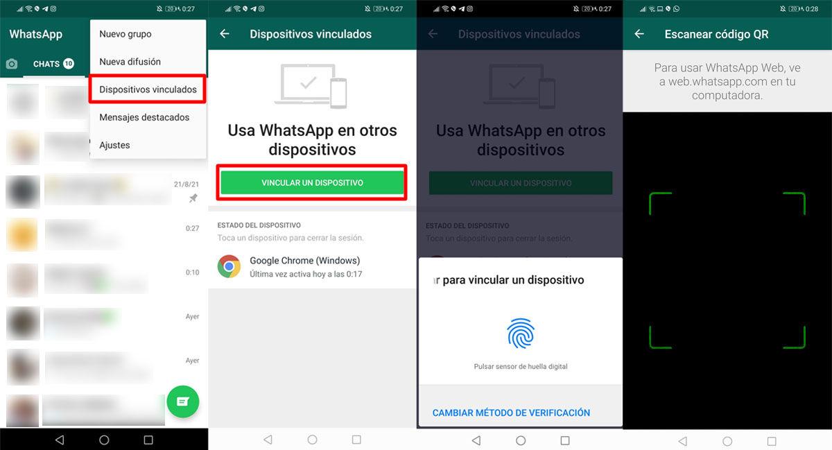 Escanear el código QR para vincular tu ordenador a WhatsApp y poder usar WhatsApp Web con el móvil apagado