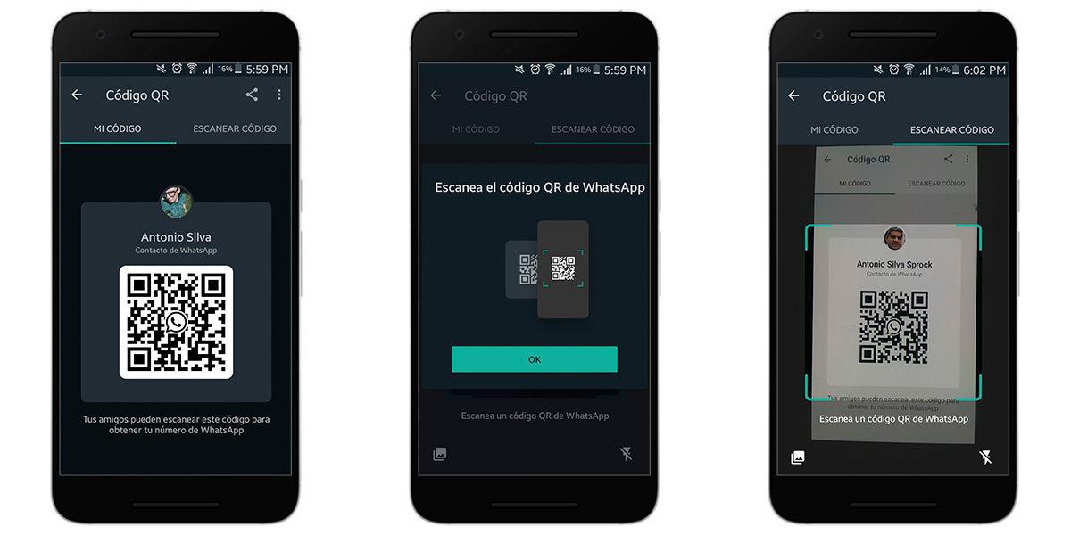 Escanear un código QR en Whatsapp Business