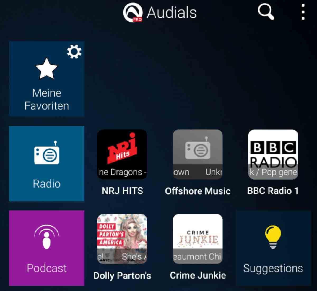 Podcasts gratis en Audials