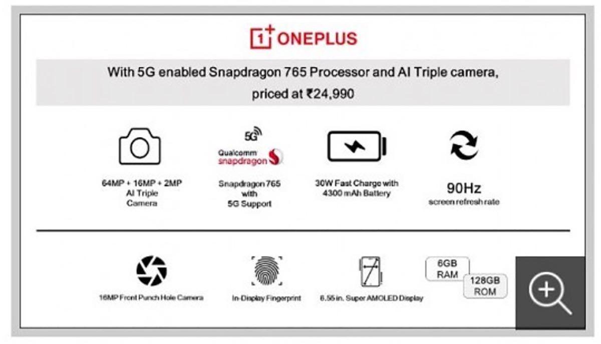Especificaciones OnePlus Z