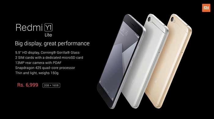 Especificaciones Xiaomi Y1 Lite