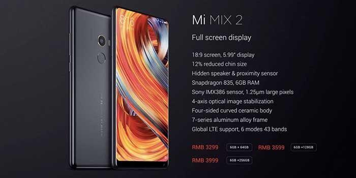 Especificaciones precio Xiaomi Mi Mix 2
