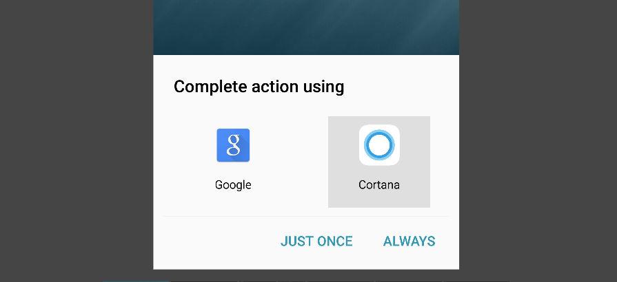 Establecer Cortana por defecto en Android