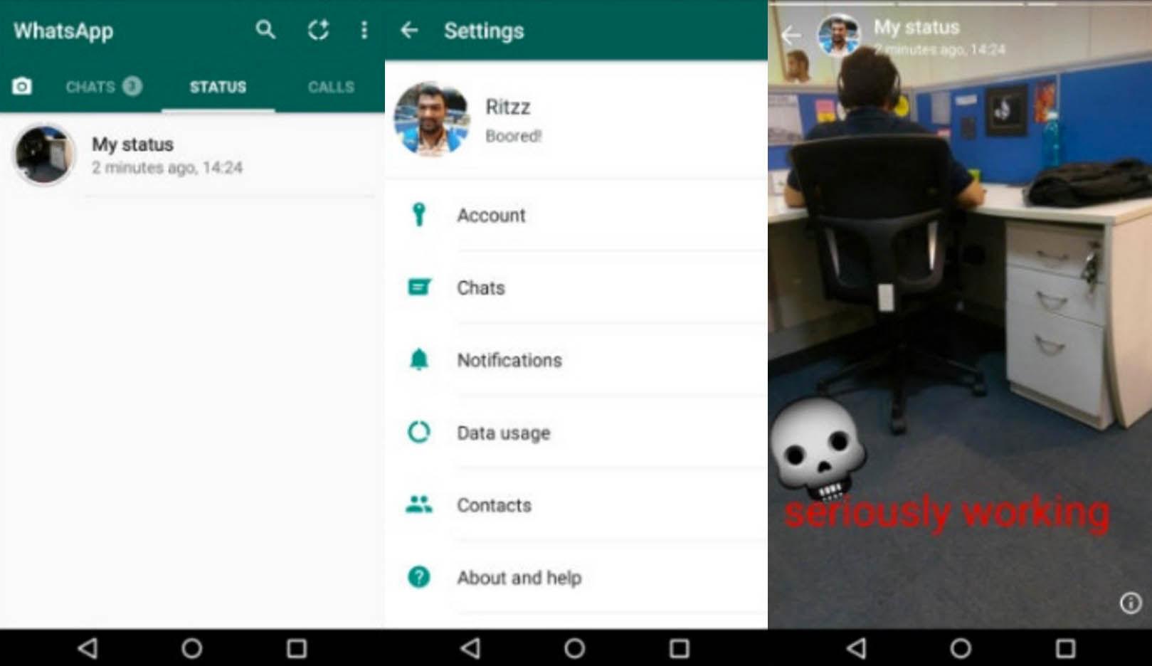 Estados WhatsApp Android