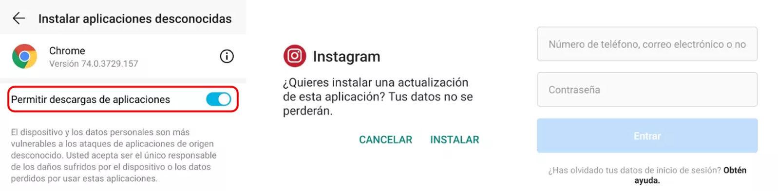 Existen dos formas de instalar el mod InstaULTRA, depende de si quieres borrar la app oficial de Instagram de tu dispositivo o no