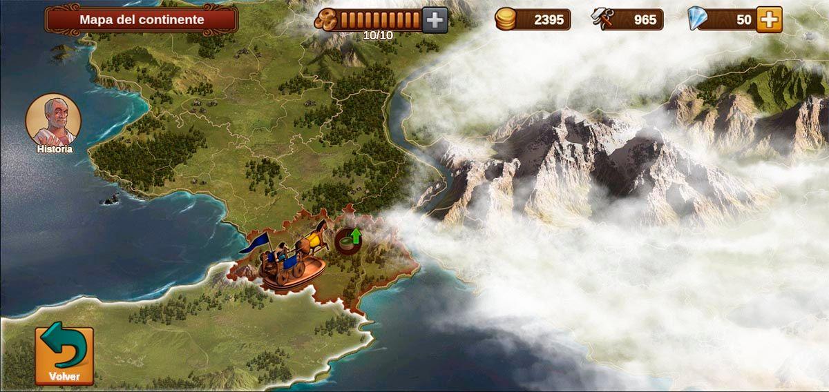 Explorar mapa Forge of Empires