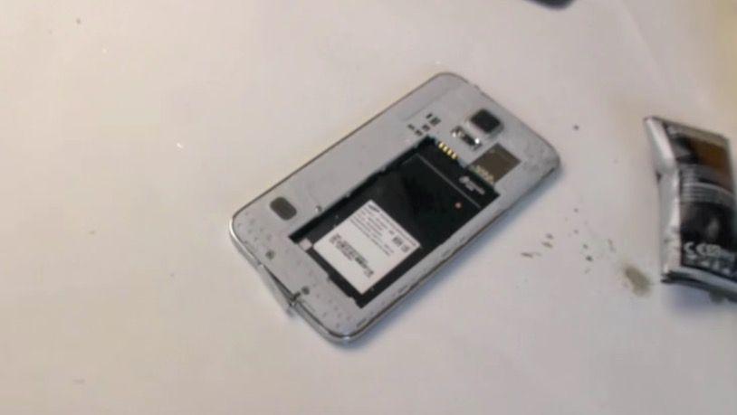 Explota batería Galaxy S5