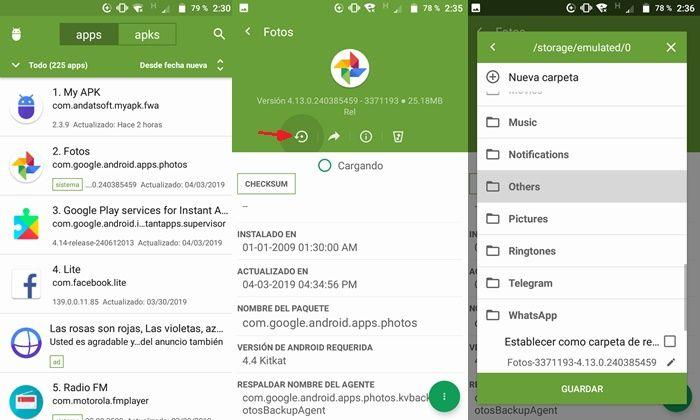 Extrayendo APK de aplicacion instalada en Android