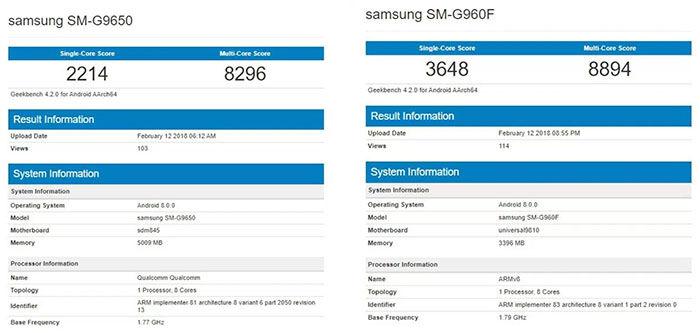 Exynos 9810 vs Snapdragon 845