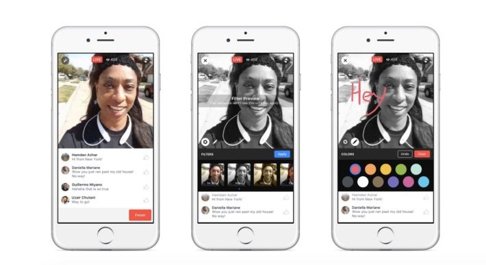Facebook Live Video filtros