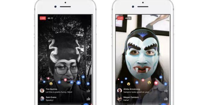 Facebook Live filtros