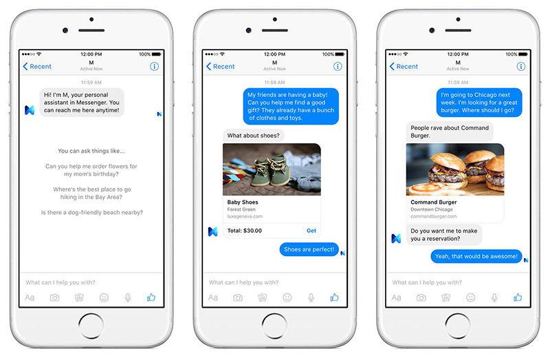 Facebook M en Messenger