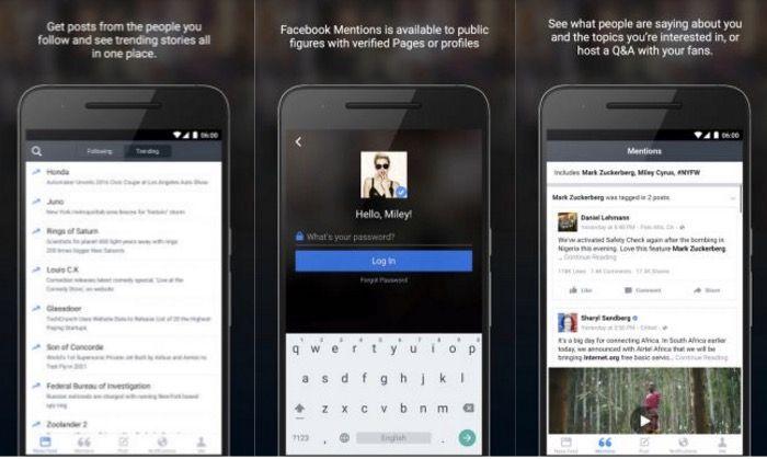Facebook Mentions para Android descargar