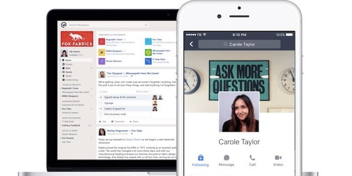 Facebook Workplace chat Windows y OS X