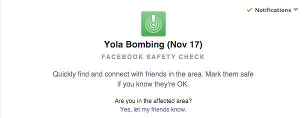 Facebook activa el safety check en Nigeria