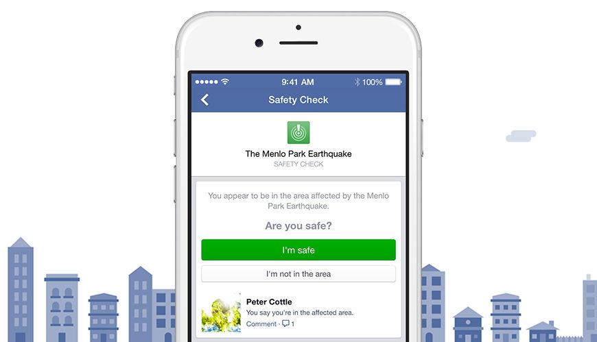 Facebook cede y apoyará más catástrofes naturales y humanas