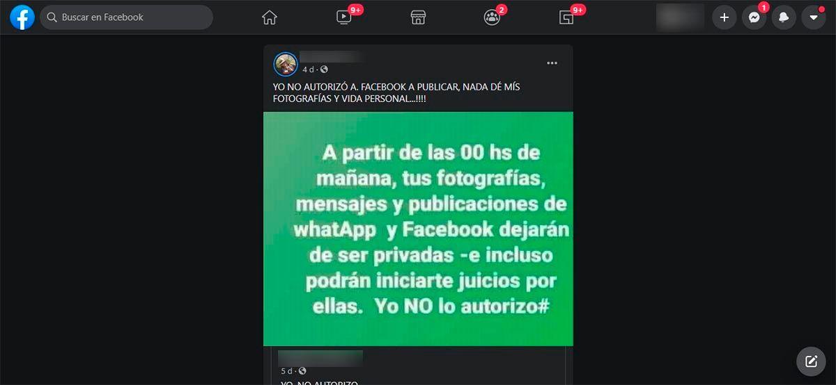 Facebook no hara publicas tus fotos y publicaciones