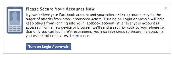 Facebook te avisará si te espía el gobierno