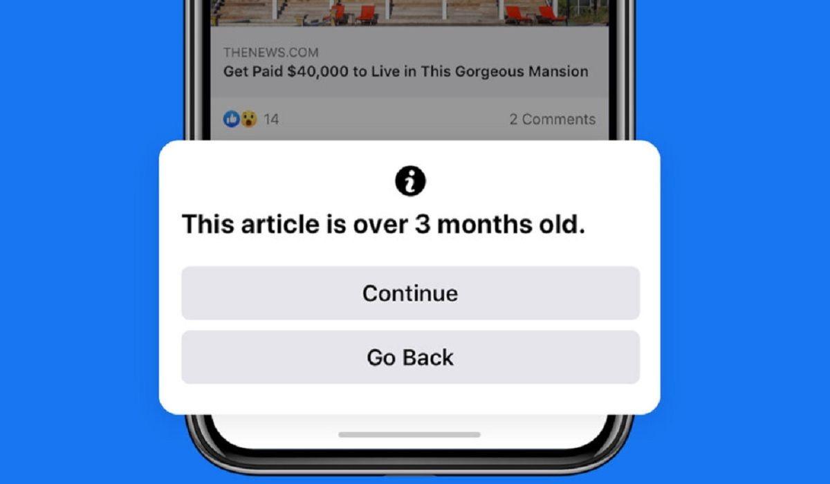 Facebook te avisara cuales publicaciones son antiguas antes de compartirla