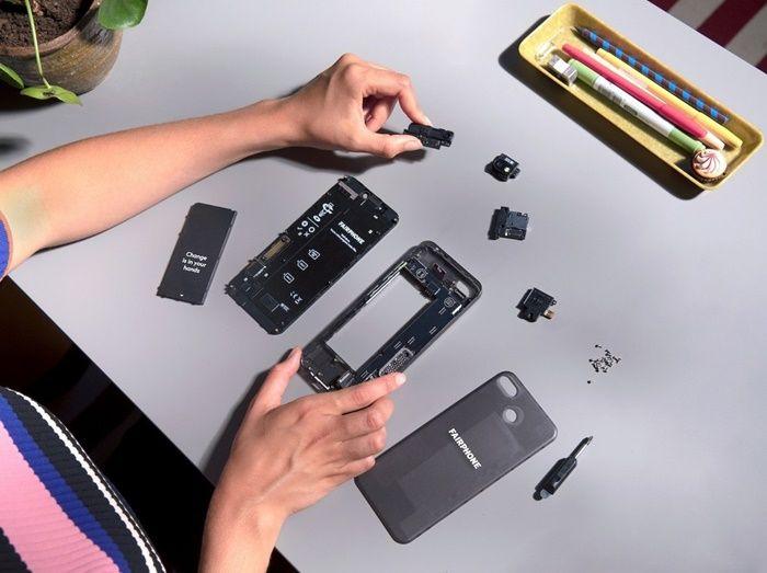 Fairphone 3 modular desmontado