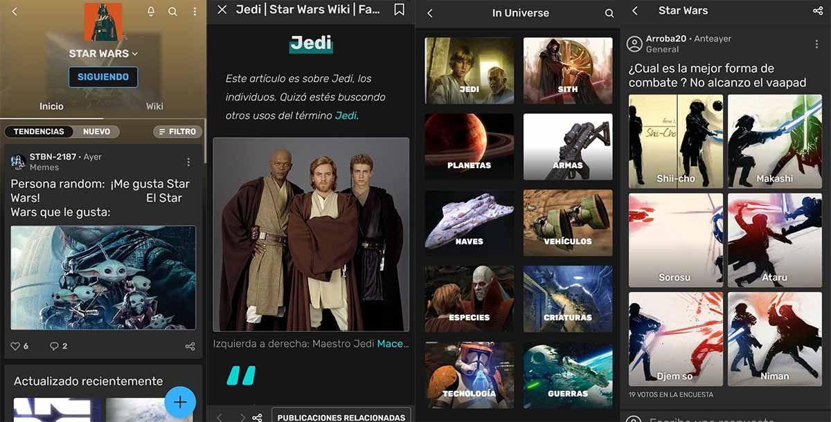 Fandom la aplicación que tiene todo lo que quieres saber de Star Wars