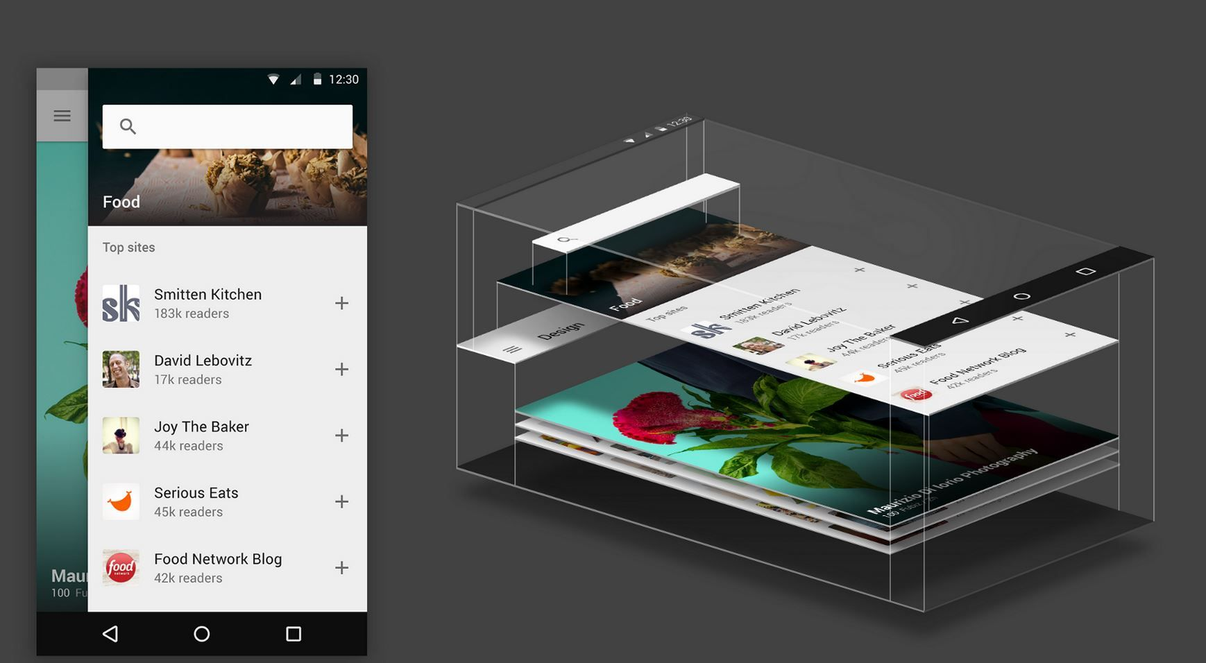 Feedly con Material Design