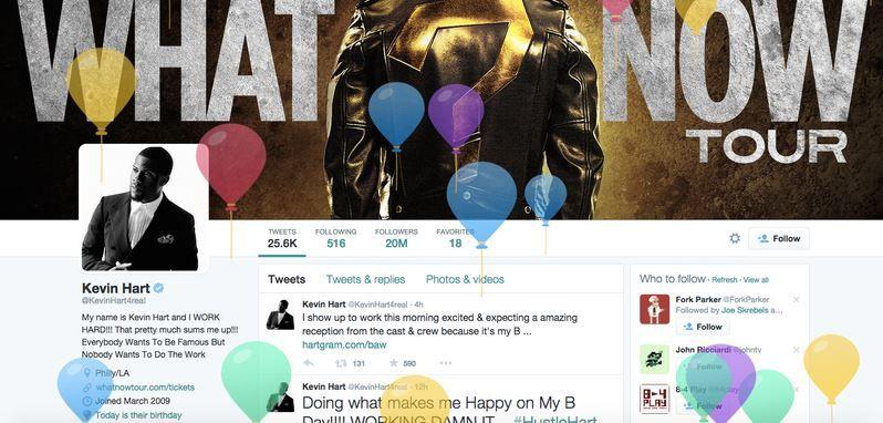 Felicitación de cumpleaños en Twitter