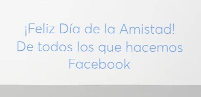 Feliz dia amistad Facebook