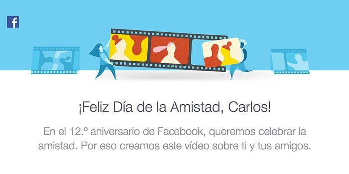 Feliz dia de la Amistad Facebook