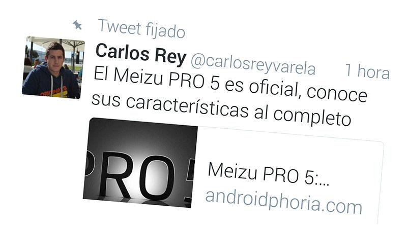 Fijar Tweet en Android