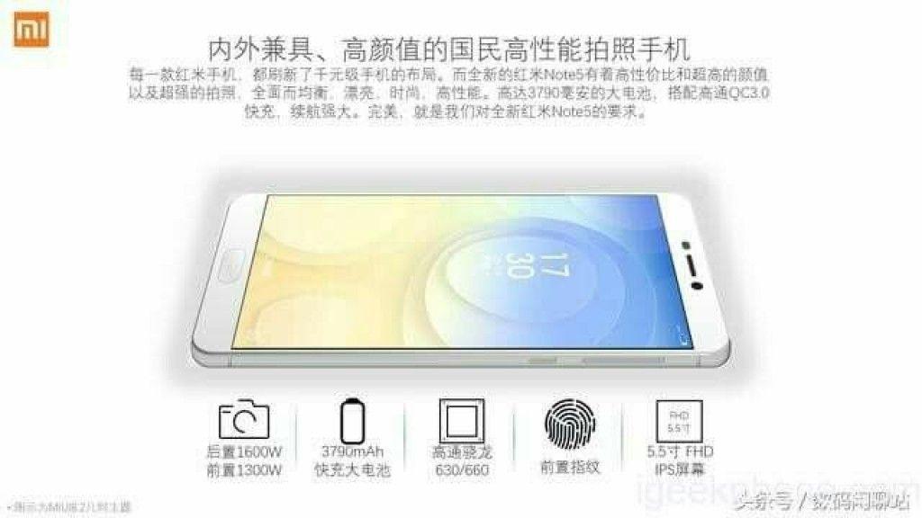 Filtrado Xiaomi Redmi Note 5