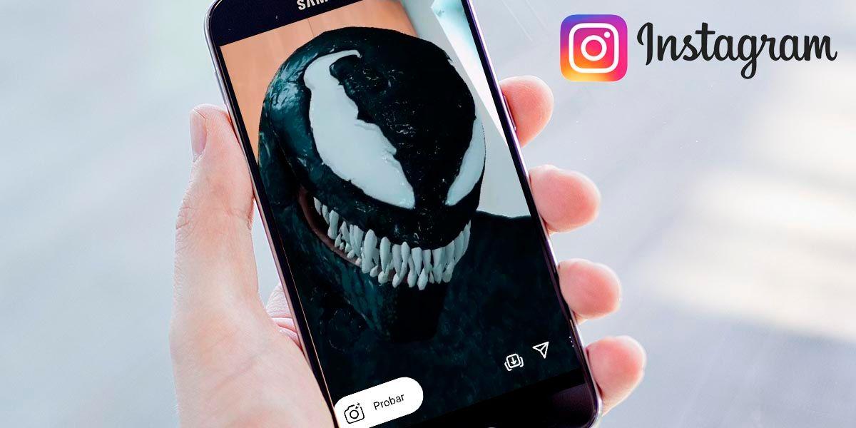 Filtro de Venom Instagram viral en TikTok