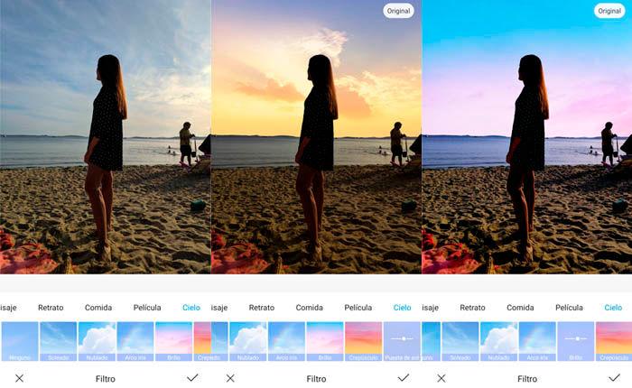 Filtro de cielo galería Xiaomi