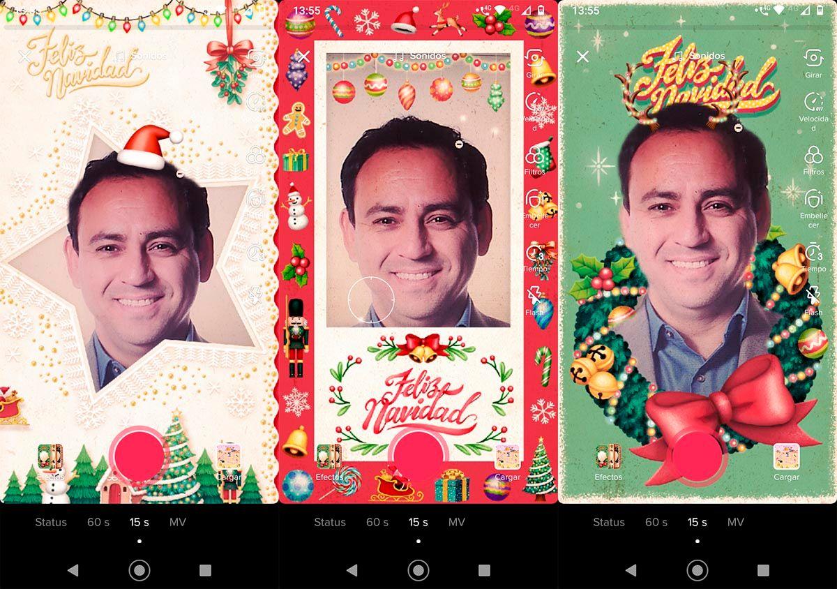 Filtro postal navideña TikTok