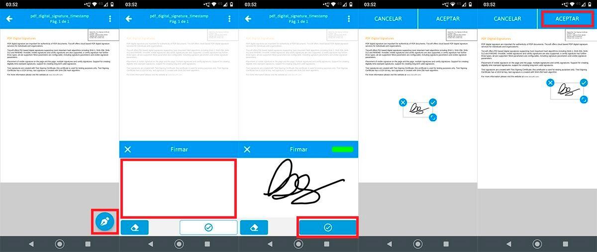 Firmar un PDF en Android
