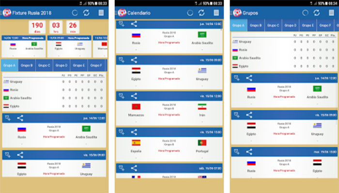 Fixture Rusia 2018 Android