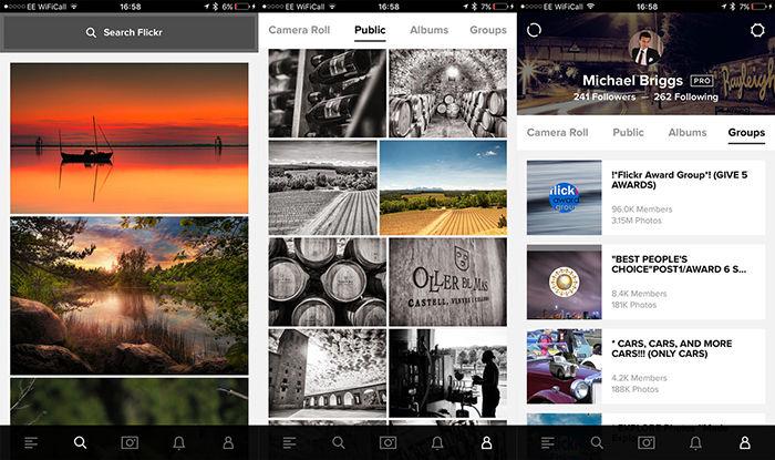 Flickr para Android
