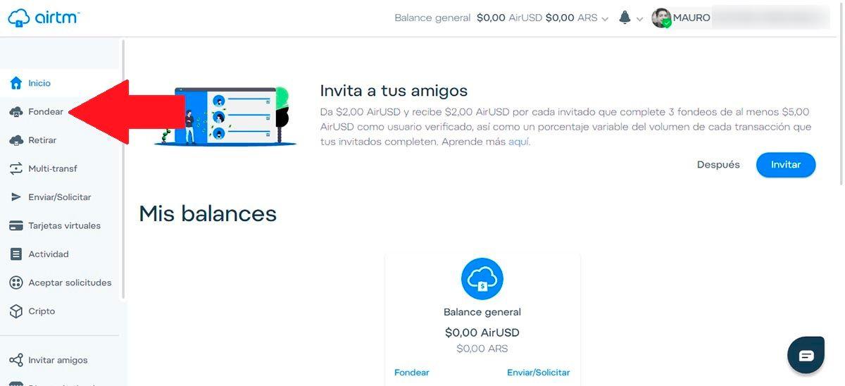 Fondear PayPal Airtm