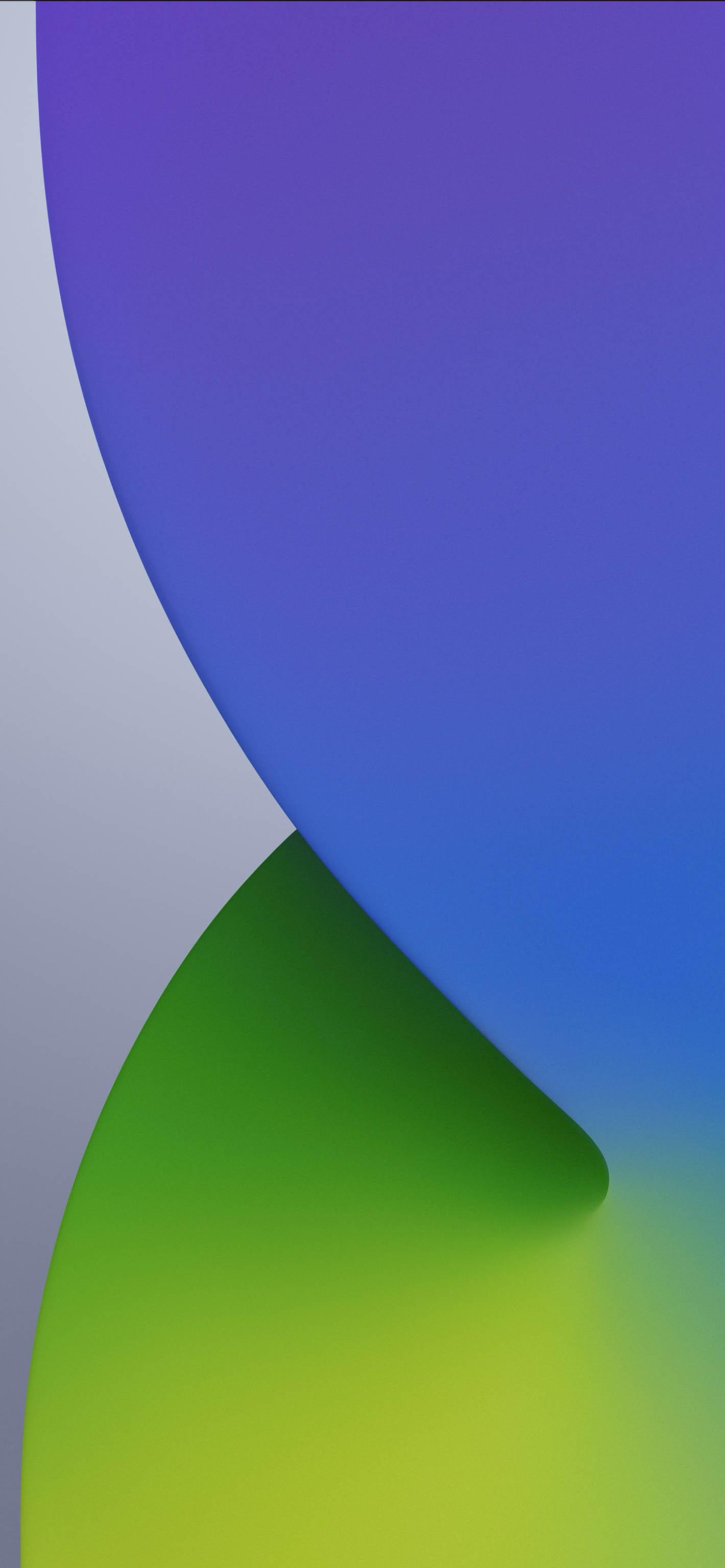 Fondo iOS 14 azul y verde