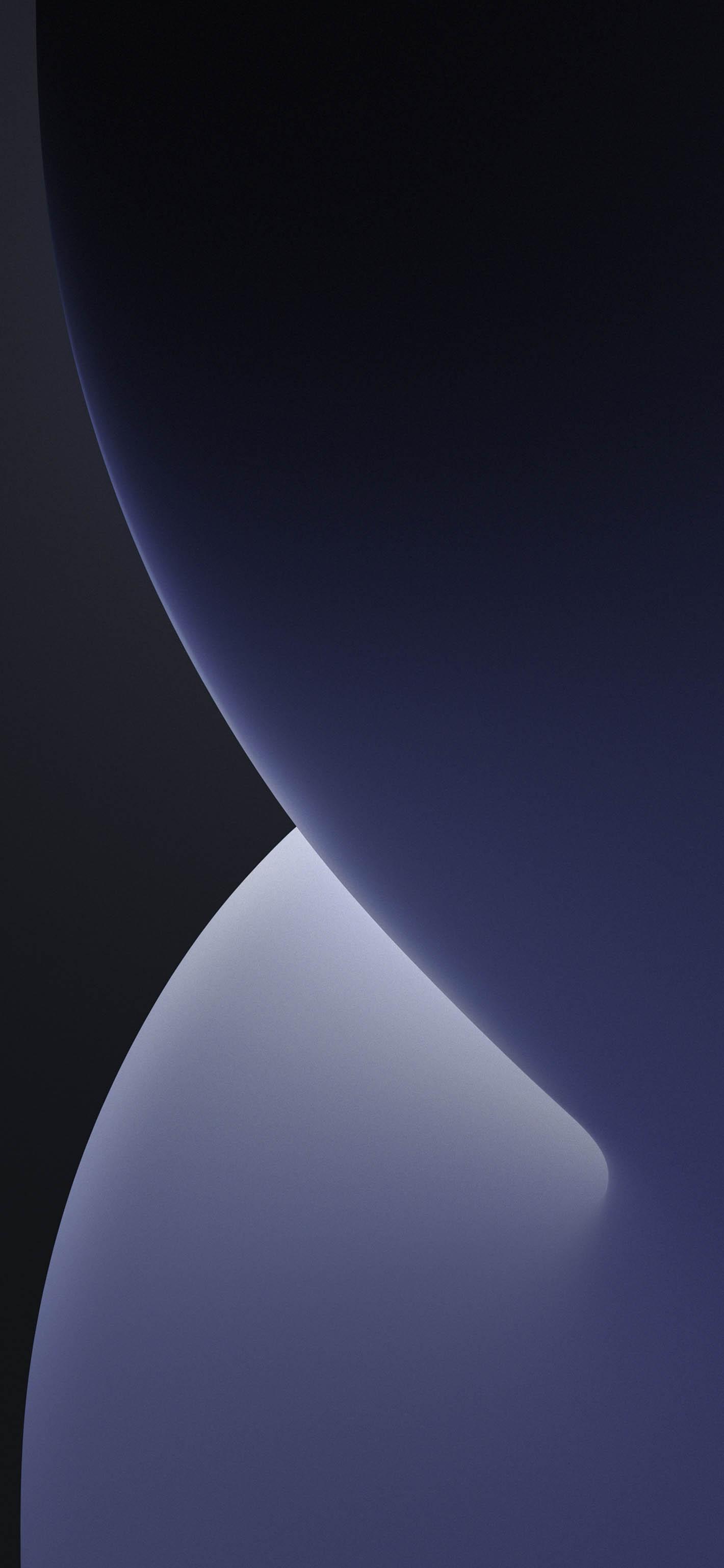 Fondo iOS 14 monocromatico oscuro