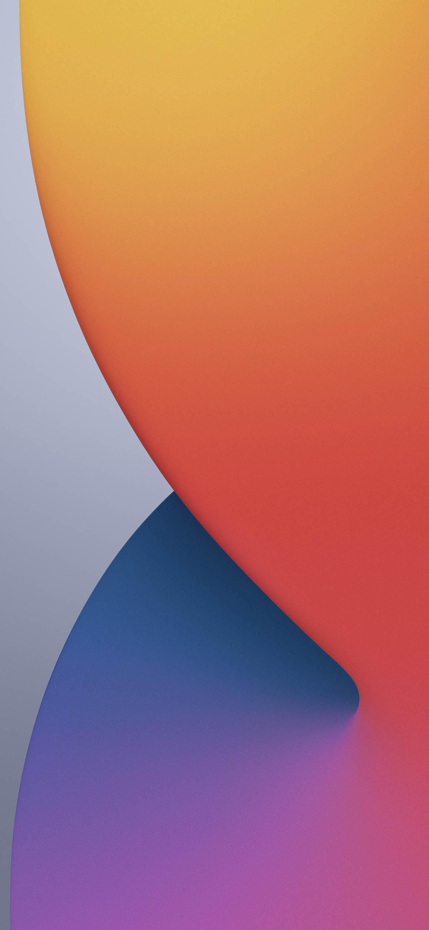 Fondo iOS 14 naranja y azul
