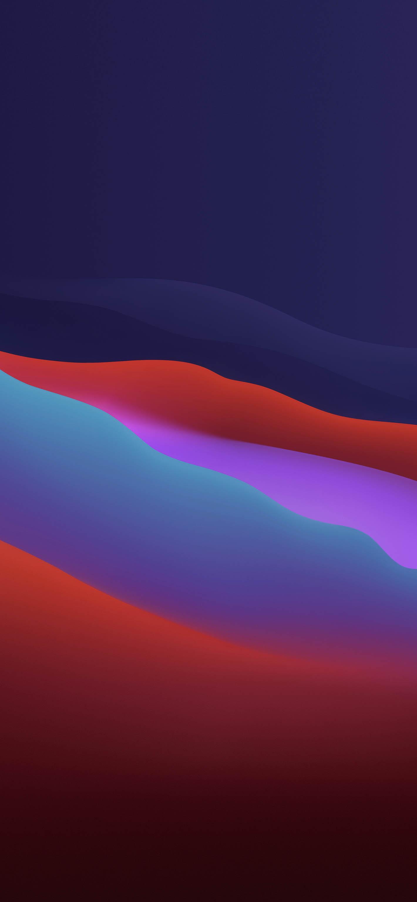 Fondo iOS 14 varios colores oscuro