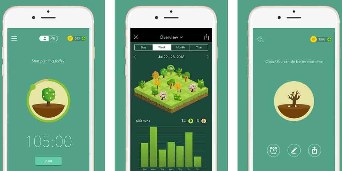 Forest app mejorar productividad