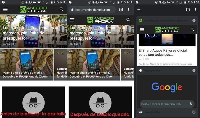 Formas de detectar webs falsas en Chrome Android