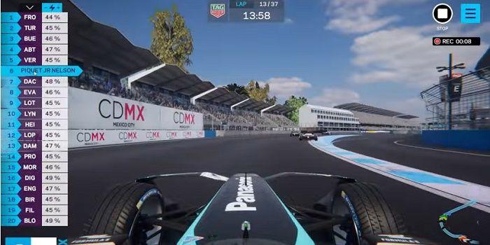 Jogo de Formula E ao vivo Ghost Racing