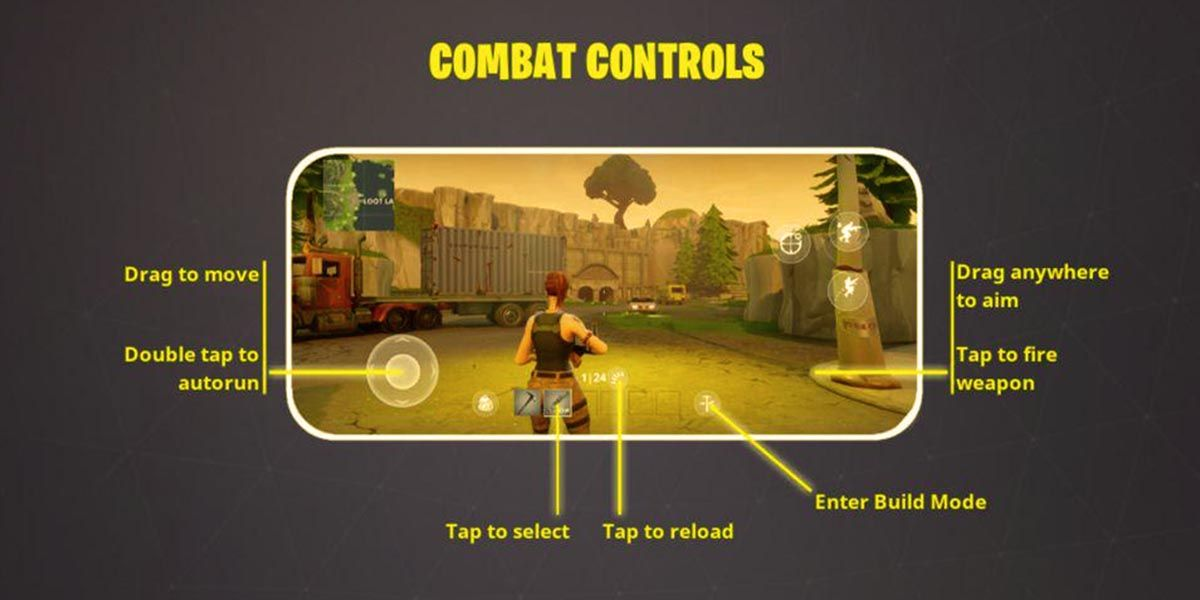 Fortnite Mobile controles