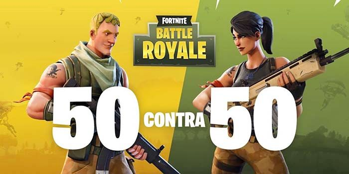 Fortnite modo 50 vs 50