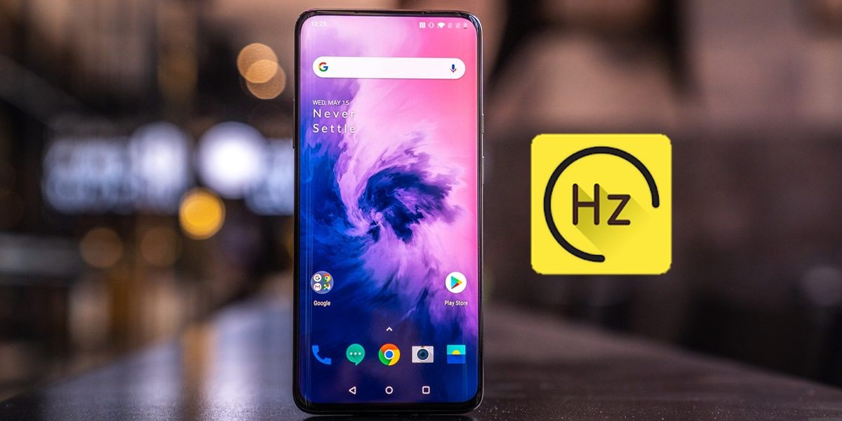 Forzar 90 hz one plus 7 pro